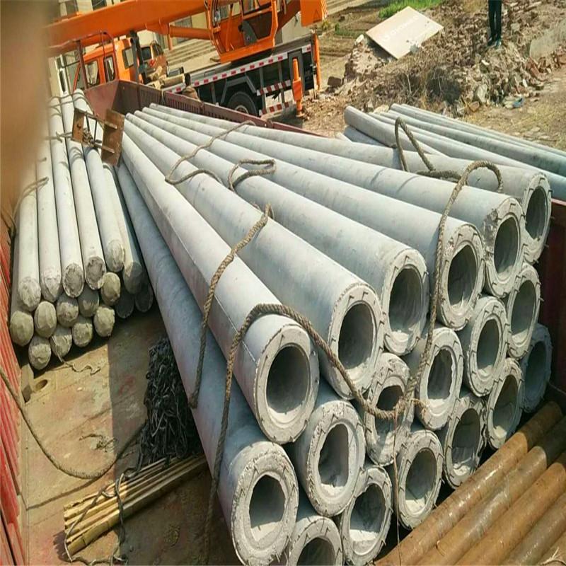 12米水泥电线杆质量差施工时的隐患